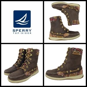 Sperry Top Sider Hikerfish Boots, size 7.5, leathe